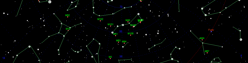 map of sky in astroicek